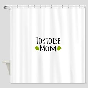 Tortoise Mom Shower Curtain