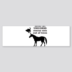 UnicornCatRescue Bumper Sticker