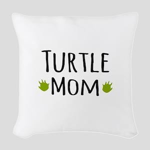 Turtle Mom Woven Throw Pillow