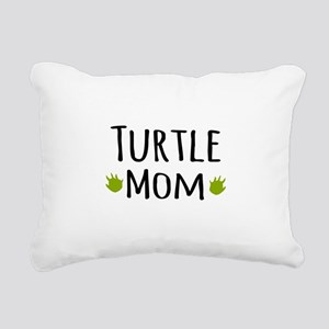 Turtle Mom Rectangular Canvas Pillow