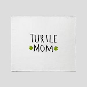 Turtle Mom Throw Blanket