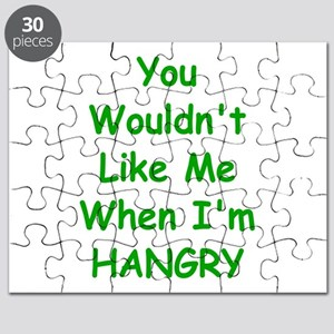 You Wouldn't Like Me When I'm Hangry Puzzle
