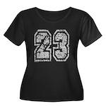 Number 23 Women's Plus Size Scoop Neck Dark T-Shir