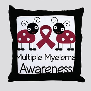 Multiple Myeloma Awareness ladybugs Throw Pillow