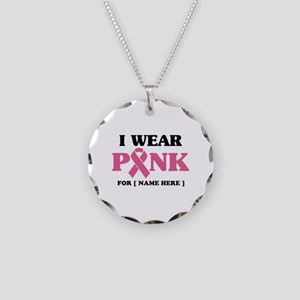 Breast Cancer Cause Necklace Circle Charm