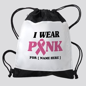 Breast Cancer Cause Drawstring Bag