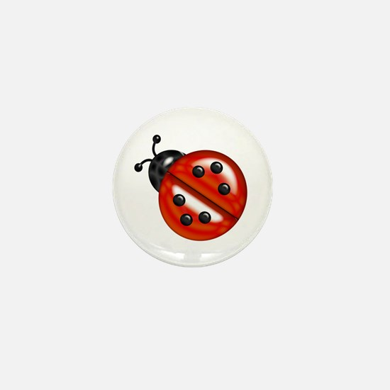 Cute Ladybug Mini Button