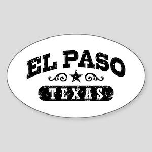 El Paso Texas Sticker (Oval)