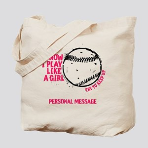 Personalized Softball Girl Tote Bag