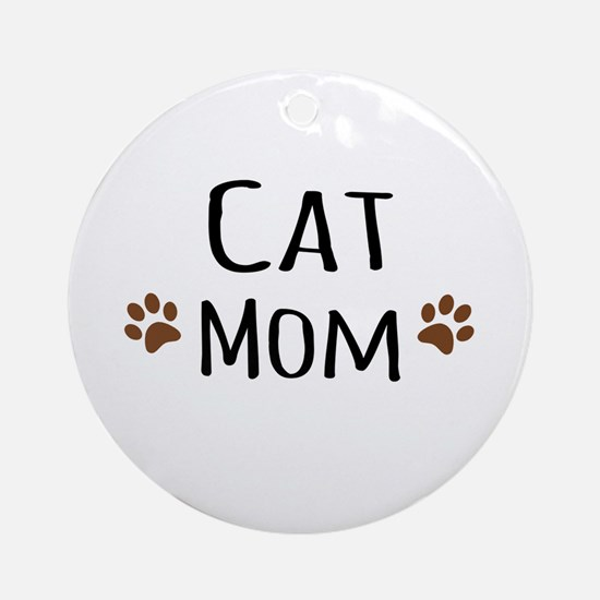 Cat Mom Ornament (Round)