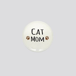 Cat Mom Mini Button