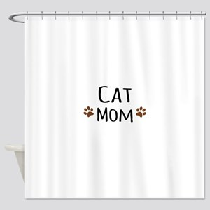 Cat Mom Shower Curtain