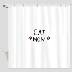 Cat Mom Shower Curtain