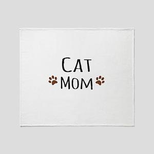 Cat Mom Throw Blanket