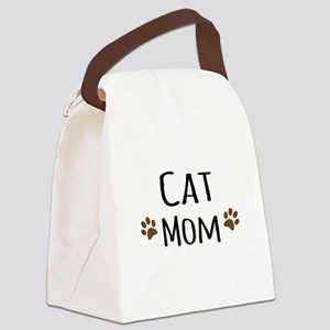 Cat Mom Canvas Lunch Bag