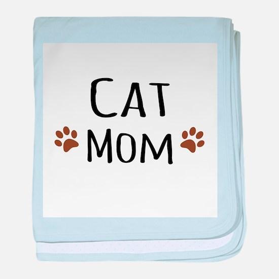 Cat Mom baby blanket
