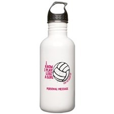 Personalized Volleyball Girl Stainless Water Bottl