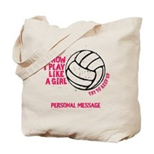 Personalized Volleyball Girl Tote Bag
