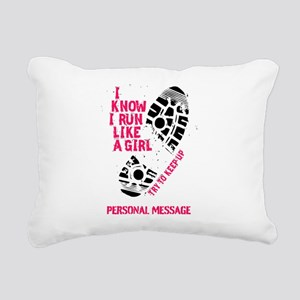 Personalized Runner Girl Rectangular Canvas Pillow