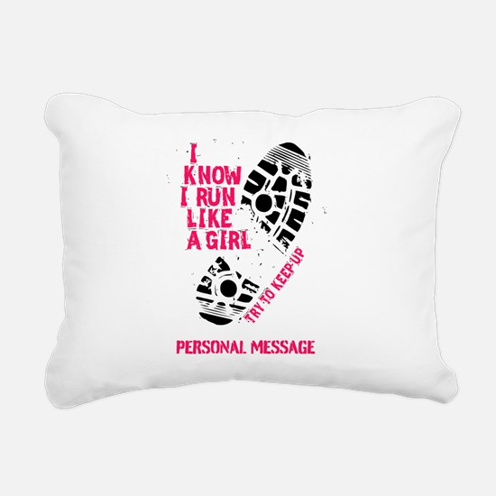 Personalized Runner Girl Rectangular Canvas Pillow