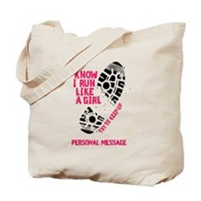 Personalized Runner Girl Tote Bag