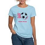 Personalized Soccer Girl Women's Light T-Shirt