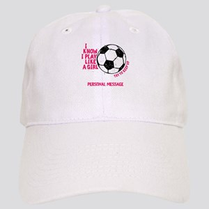 Personalized Soccer Girl Cap