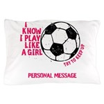 Personalized Soccer Girl Pillow Case