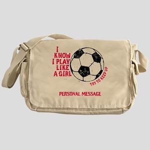 Personalized Soccer Girl Messenger Bag