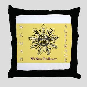 Woman Suffrage Emblem Throw Pillow