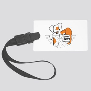 Adopt Pets Patch Rusty Large Luggage Tag