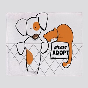 Adopt Pets Patch Rusty Throw Blanket