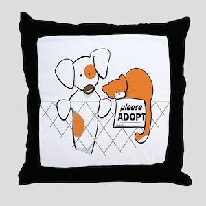 Adopt Pets Patch Rusty Throw Pillow