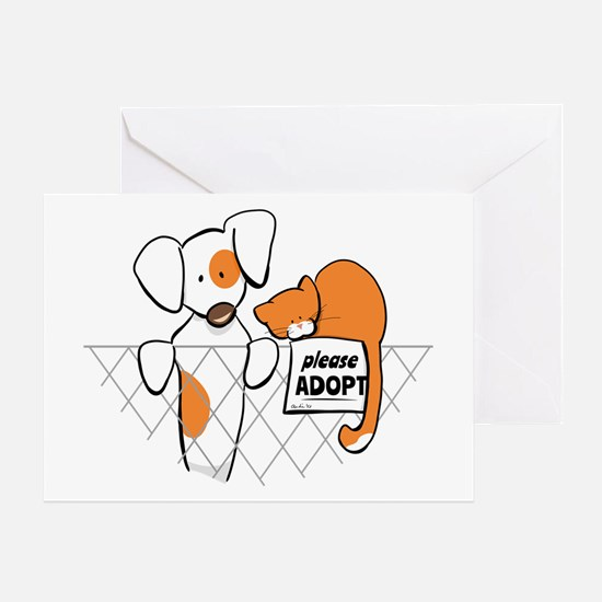 Adopt Pets Patch Rusty Greeting Card