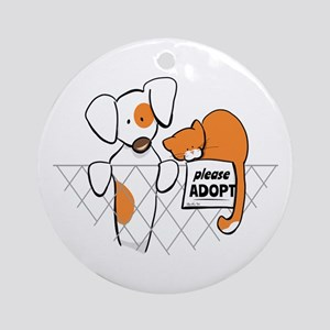 Adopt Pets Patch Rusty Ornament (Round)