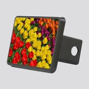 Colorful spring tulips in  Rectangular Hitch Cover