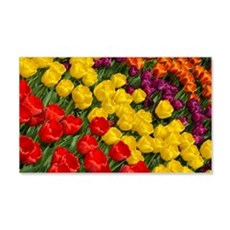 Colorful spring tulips in rows Wall Decal