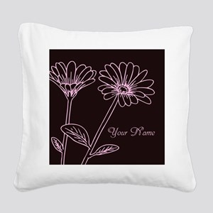 Daisy Personalized Name Square Canvas Pillow