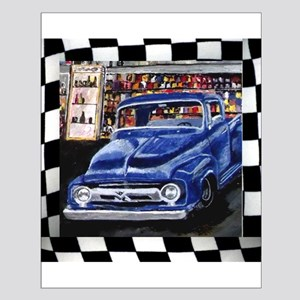 Checkered Old Truck Posters