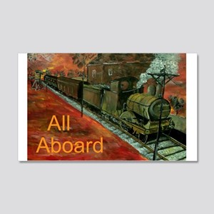 All Aboard Train Calender Wall Decal