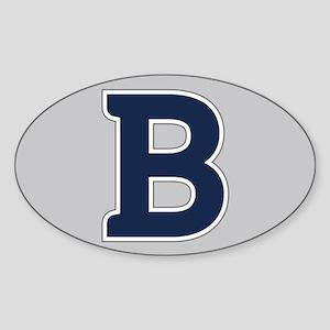 Butler University B Sticker (Oval)