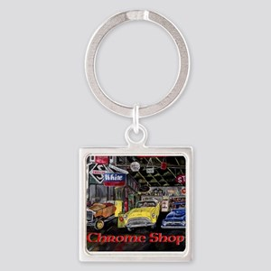 Chrome Shop Old Car Calender Keychains