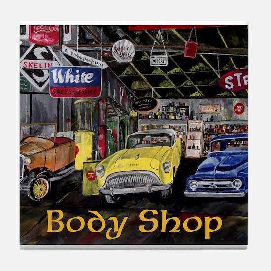 Classic Car Body Shop Calender Tile Coaster