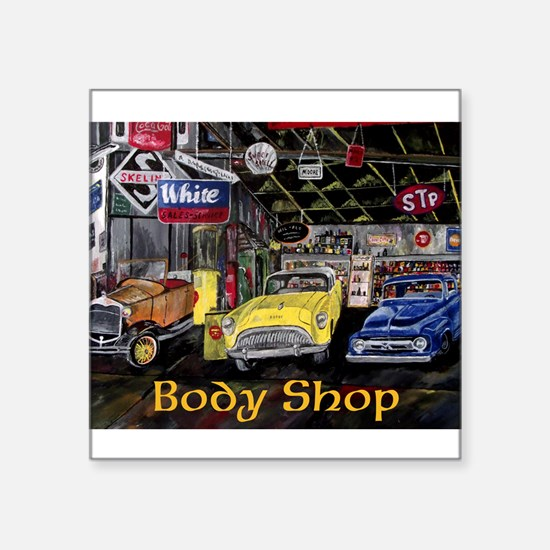 Classic Car Body Shop Calender Sticker