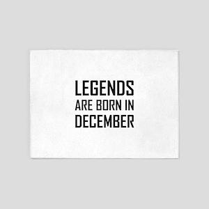 Legends Are Born In December 5'x7'Area Rug
