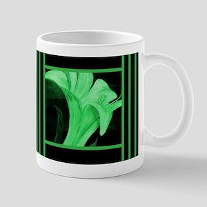 Modern Green Floral Mugs
