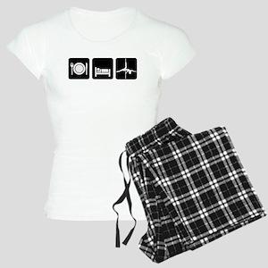Eat Sleep Pole Dance White/Black Pajamas