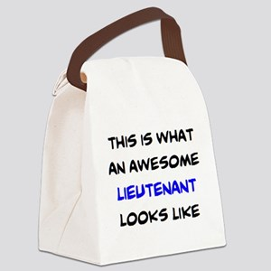 awesome lieutenant4 Canvas Lunch Bag