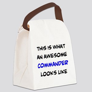 awesome commander Canvas Lunch Bag