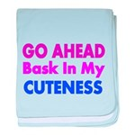 GO AHEAD baby blanket